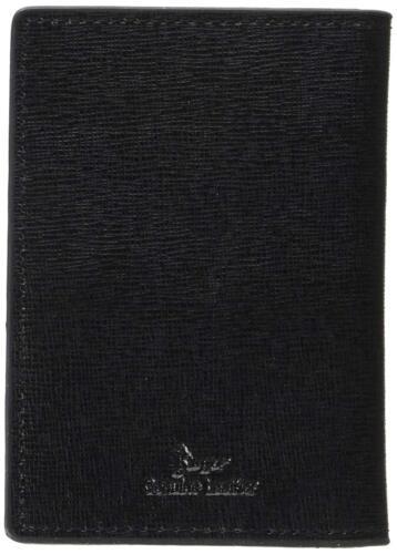 Royce New York HOMME Saffiano Cuir Rfid Poche avant Carte D/'Identité Etui Noir