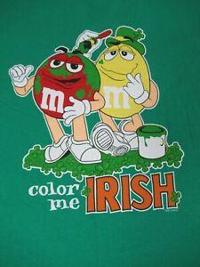 Nwot-M-amp-m-039-s-Marca-Color-Caramella-Me-Irlandese-Quadrifogli-Verde-2XL-T-Shirt-D250