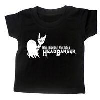 Baby T shirt 'HEADBANGER' BOYS - GIRLS Rock Metal Thrash MUSIC Slogan Tee Gift