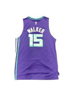 a3d5f3dca Image is loading Kemba-Walker-Charlotte-Hornets-Home-Purple-Signed-Jersey-