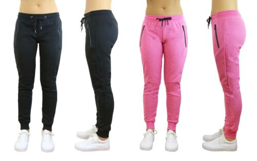 2 PACK Womens Jogger Sweatpants Tech Gym Yoga Running Slim Fit Lounge Active NWT