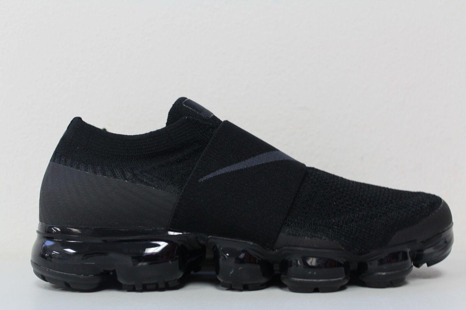 Nike Womens Air Vapormax Flyknit Moc Triple Black AA4155-004 Size 9.5