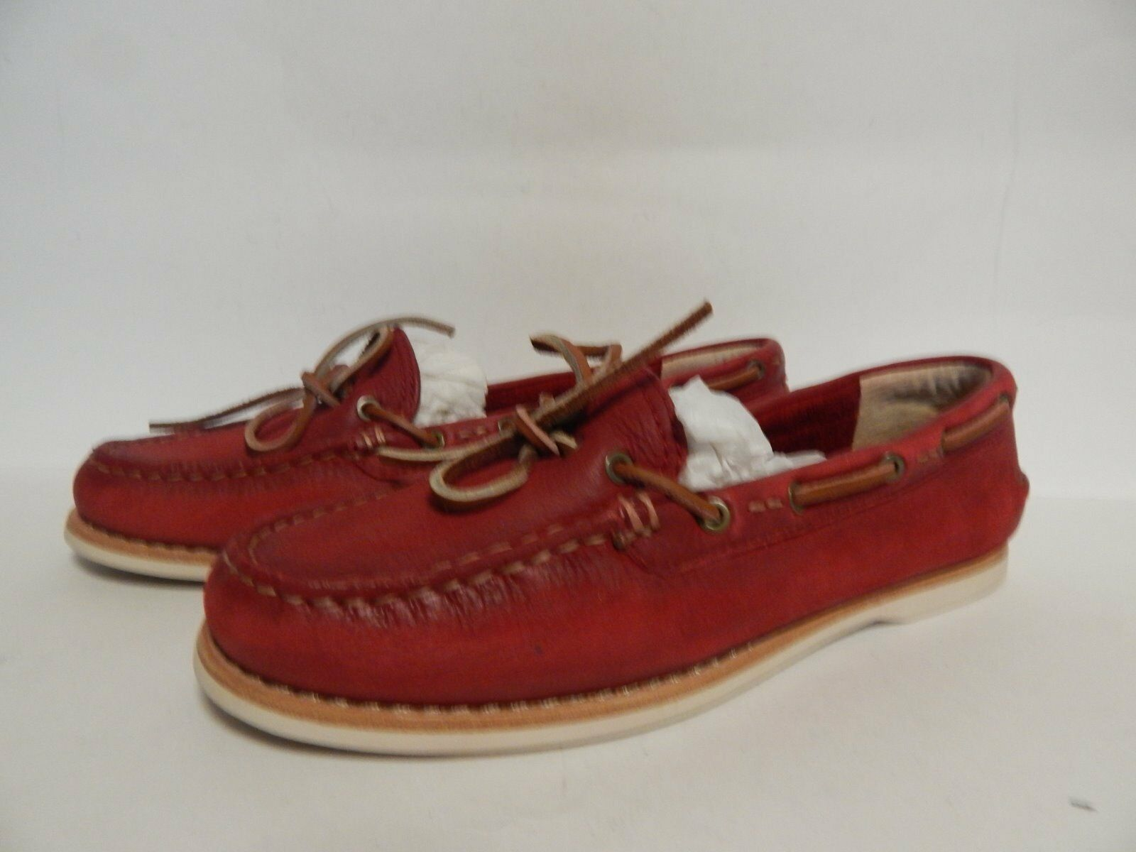 FRYE Quincy Tie Met Loafer 6.5 M Red Pelle New  New Pelle with Box 9e7d56