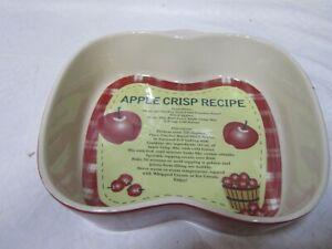 Cracker Barrel Apple Baking Dish Apple Crisp Recipe Home Decor Kitchen Dishware Ebay