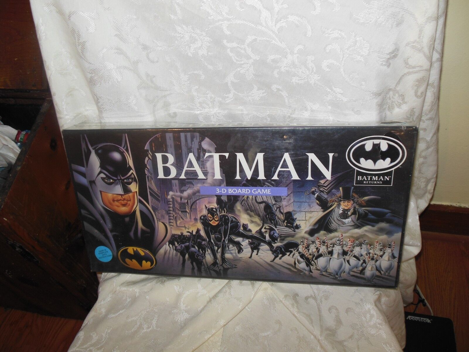 BATMAN RETURNS 3-D BOARD GAME  New New New 1992  Sealed free shipping ce078d