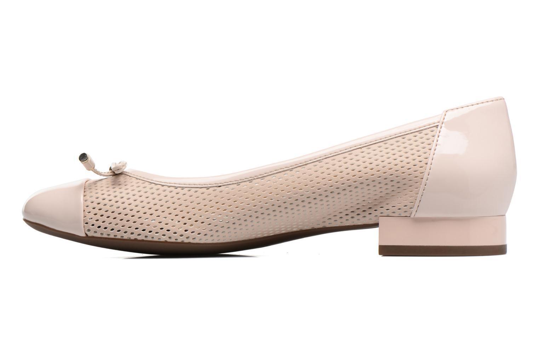 GEOX chaussures femmes BALLERINE PELLE FORATA CON FIOCCO LT.rose LINEA WISTREY D724GG