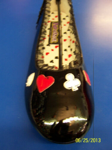 ALICE Shoes Wonderland Casino Black Flats Cute Halloween Adult Costume Accessory