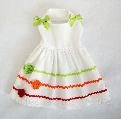 XXS New Bright Summer Colors Dog dress clothes pet Clothing teacup PC Dog®