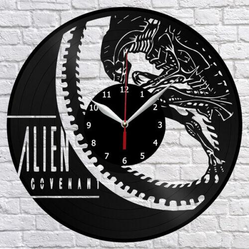 "Alien Covenant Horror Vinyl Record Wall Clock Fan Art Home Decor 12/"" 30cm 1016"