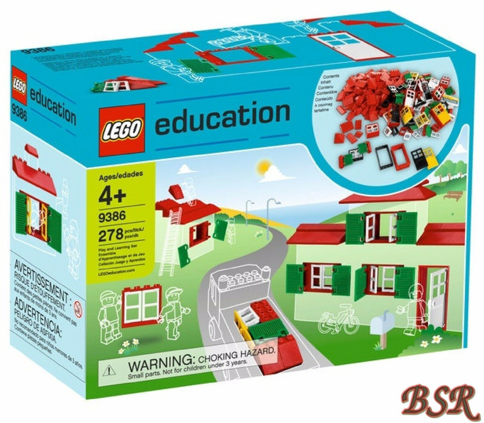 B-Ware LEGO ® Education 9386 porte, finestre & Pietre Tetto 278 pezzi & NUOVO & OVP