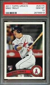 2011 Topps Update MIKE TROUT Rookie #US175 Baseball Card PSA 10 Gem Mint