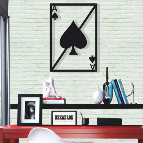 Metal Wall Art Decor Ace of Spades 3D Wall Silhouette Wall Decoration Artwork