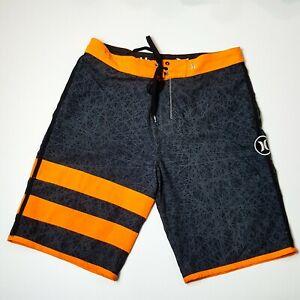 Hurley-Phantom-Grey-Fluro-Orange-Boardshorts-Boardies-Beach-Outdoors-Casual
