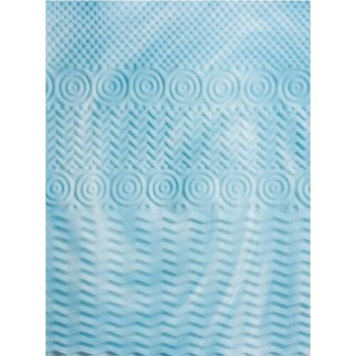 "Mattress Topper Memory Foam 5 Zone 2/"" Orthopedic Pad Comfort Sleep Back Support"