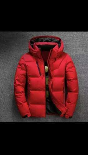 2019 hiver veste hommes qualité thermique épais manteau neige rouge noir Parka m