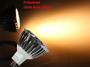 GU-5-3-Faretto-lampada-LED-3W-COB-2500K-Bianco-caldo-Alto-CRI-93-dimmerabile-12V