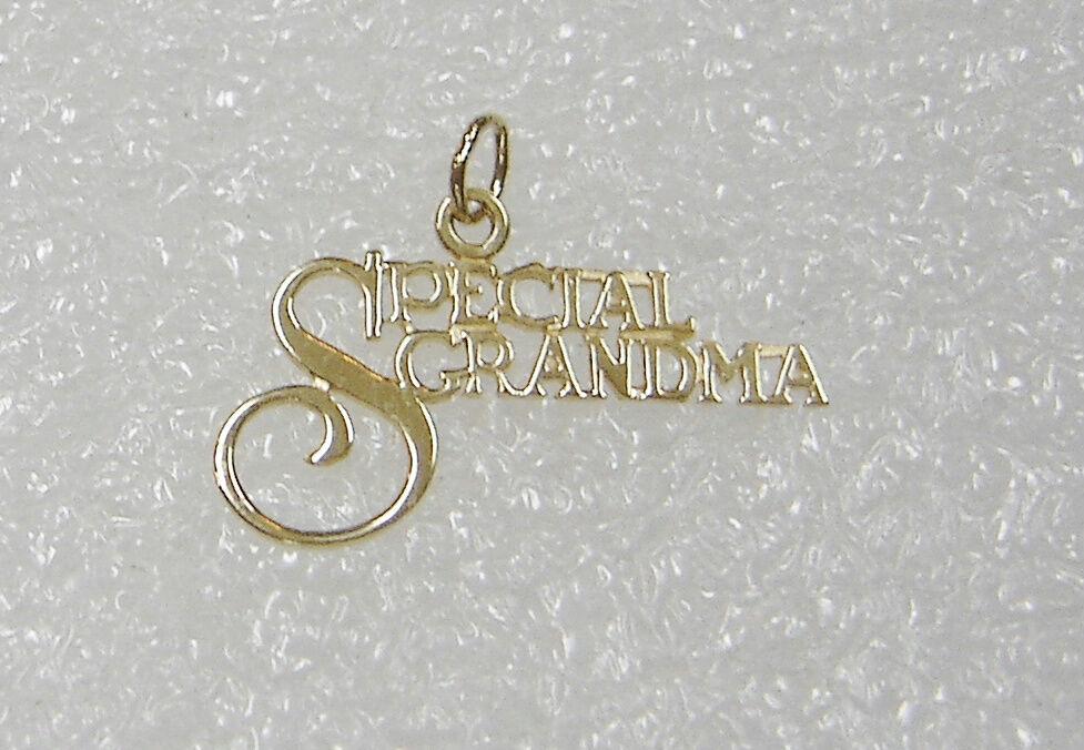 14k oro Giallo Speciale Grandma ( Nonna) Ciondolo Ciondolo Ciondolo Collana N406-g eea38c
