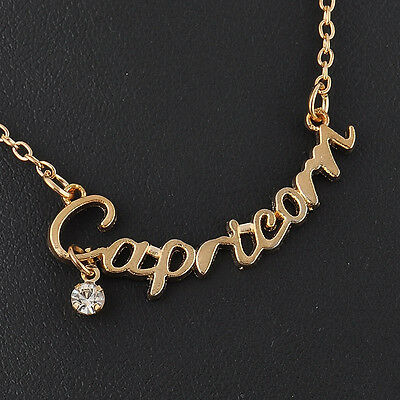Sexy Charms Zodiac Guardian Star Clavicle Chain Letter Pendant Couple Necklace