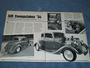 Details about 1934 Chevy 5-Window Coupe Pro Street Vintage Article