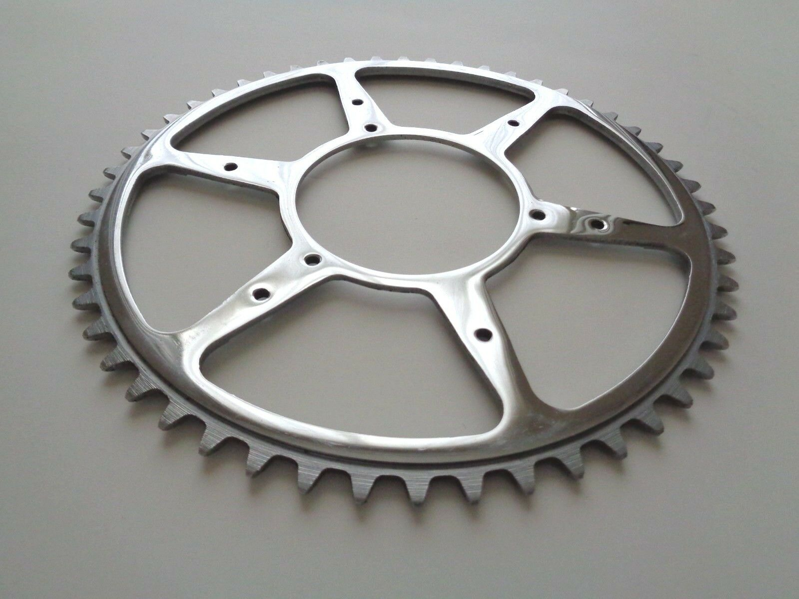 NOS Vintage 1950s Williams 52T 1 8  double adapter steel chainring