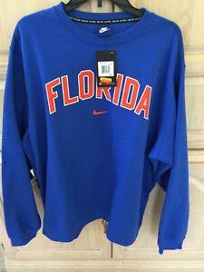 Men-s-NIKE-FLORIDA-GATORS-ROYAL-BLUE-Crew-Neck-Sweatshirt-Size-XXL
