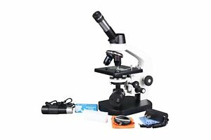 Radical 2500x LED Professional Medical Compound Doctor Trinocular Microscope w Recharcheable Battery Back Up USB PC Camera