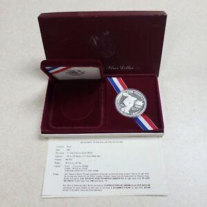 1-1983-S-Los-Angeles-XXIII-Olympiad-Commemorative-1-Proof-Silver-Dollar-wCOA