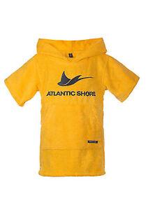 Atlantic-Shore-Surf-Poncho-Bademantel-Umziehhilfe-fuer-Baby-Yellow