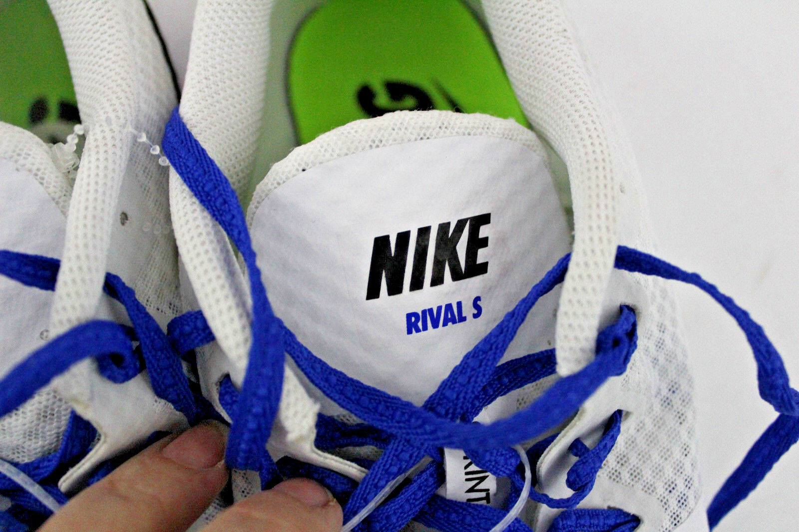 nike zoom rival rival rival s8 hommes sz 13 track & field sprint style 806554-100 pointes 08df80