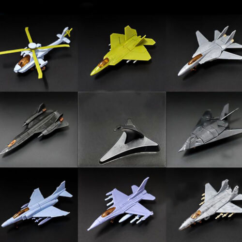 4D Assembly Fighter Helicopter Model Puzzle Building Figure Plastic Toy Gift