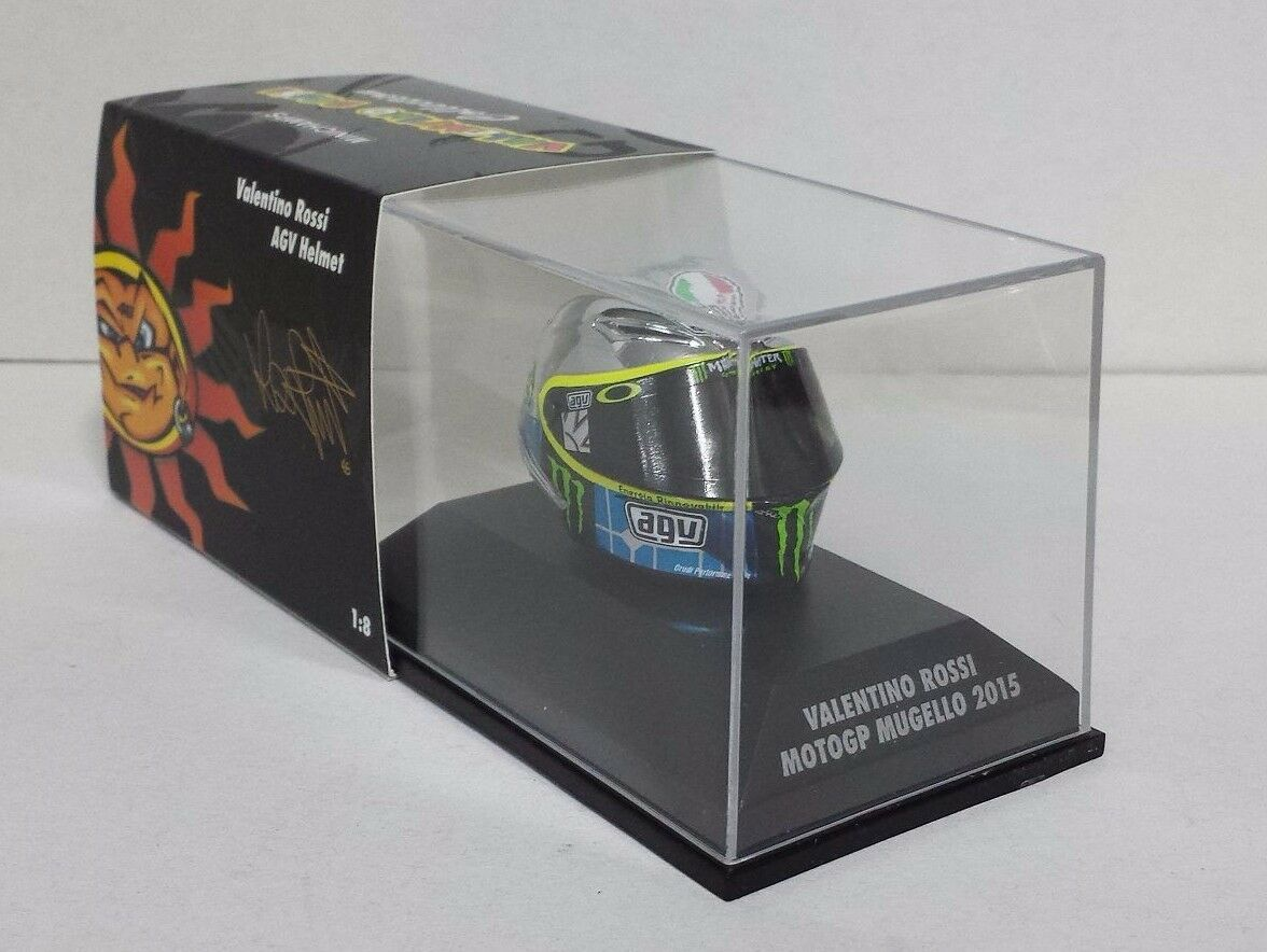 Minichamps  Valentino Rossi Modèle AGV Casque Helmet 1 8 Motogp Mugello 2015  économiser jusqu'à 70% de réduction
