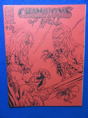 CHAMPIONS OF HELL #2 2XSIGNED TIM VIGIL & ROBIN THOMPSON HARD TO FIND!