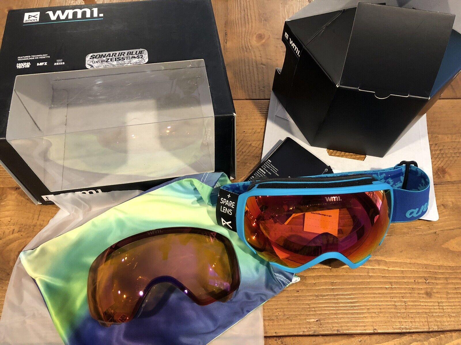 Anon wm1 Bolton snowboard sonar infrarrojo azul Chase 2x lente