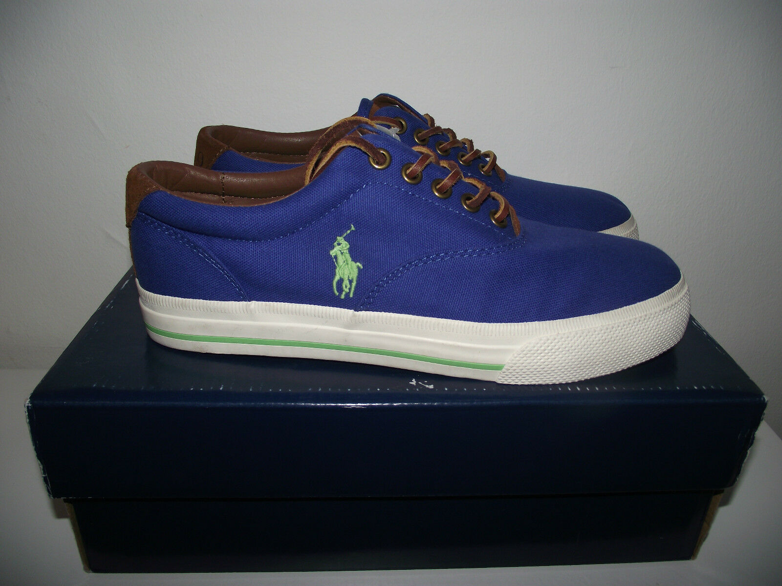 POLO RALPH TRAINERS LAUREN ROYAL BLUE  TRAINERS RALPH SIZE 6 NEW IN BOX 282329