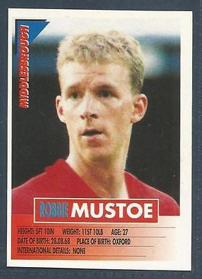 PANINI SUPERPLAYERS 1996 #182-MIDDLESBROUGH-STEVE VICKERS