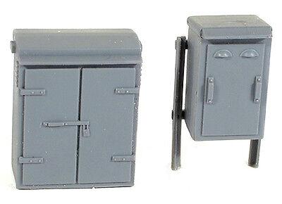 Streckenseitiger Relais Boxen' Set 2'nenngröße 00 = 1/76th Maßstab Wills Ss88 Model Railroads & Trains