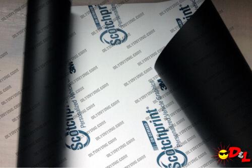 """3M Scotchprint Black Matte Wrap Film 12/""""x72/"""" 6sq ft."""