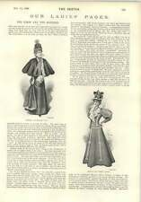 1896 Miss Violet Vanbrugh Stage Dresses Ermin And Monkey Fur Fashion