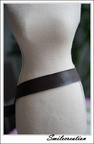 175cmx2cm Galon plat en simili cuir Faux Imitation Leather PU Trim marron brown