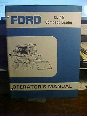 Manuals & Literature Ford CL35-CL45 Skid Steer Compact Loader ...