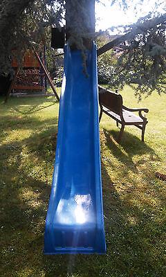 Wellenrutsche blau 3 m Anbau- Kinderrutsche Rutschbahn für Spielturm oder Hang