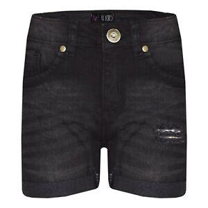 44207f18164c Kids Boys Shorts Denim Ripped Black Chino Bermuda Jeans Short Half ...
