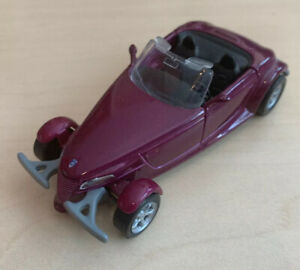 Die Cast Metal Car Plymouth Viper Convertible Purple Plum by Maisto 1/38 Scale