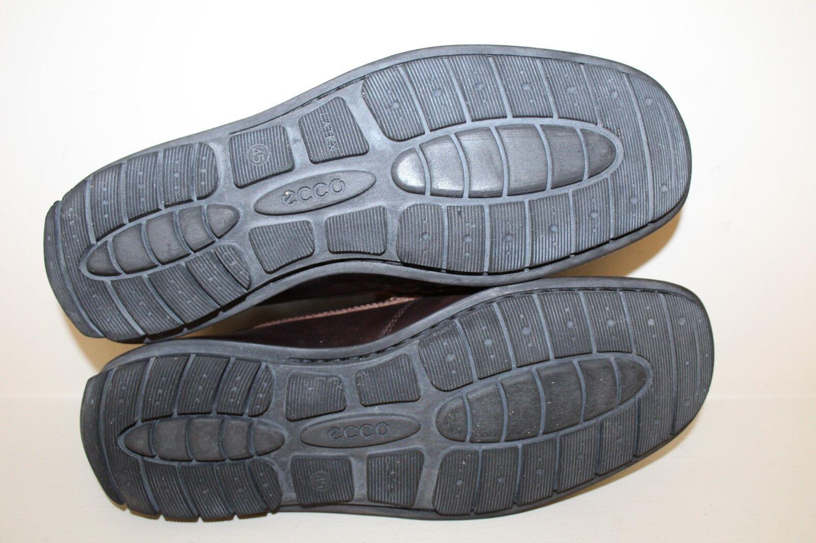 Ecco  Herren Loafer Schuhes Sz 11 - 11.5 11.5 11.5 / 45 Braun Leder Moc Toe Slip On Driving 45d813