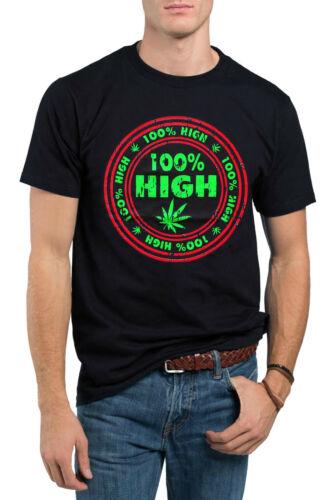 100/% High 420 Weed Pot Marijuana Cannabis Kush Stoner Graphic T-Shirt
