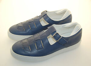 MAN-SNEAKER-7eu-41-BLUE-PEBBLE-CALF-VITELLO-MARTELLATO-BLU-RUBBER-SOLE