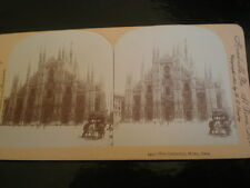 Old Stereoview photograph the cathedral of Milan Italy by Keystone c1890s