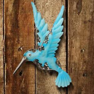 Details About Hummingbird Wall Art Sculpture 3 D Handcrafted Metal Decor Indoor Outdoor Blue S