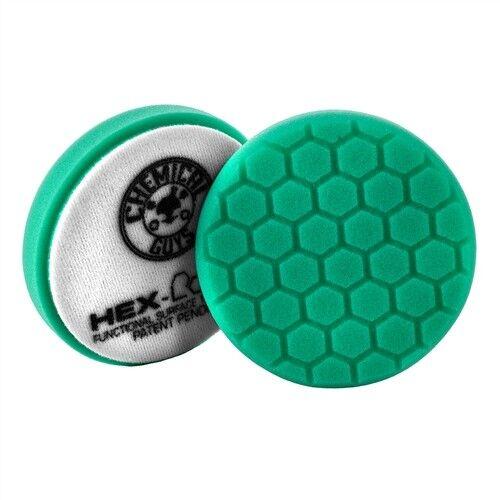 "Chemical Guys BUFX/_103HEX4,4 /"" Hex-Logic Pad Green Light Cut-Heavy  Pad 4/""I..."