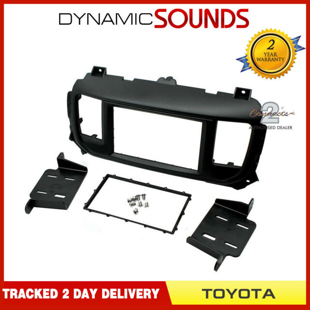 Connects2 CT23TY06 Black Double Din Fascia Plates For Toyota Auris 2007-2013
